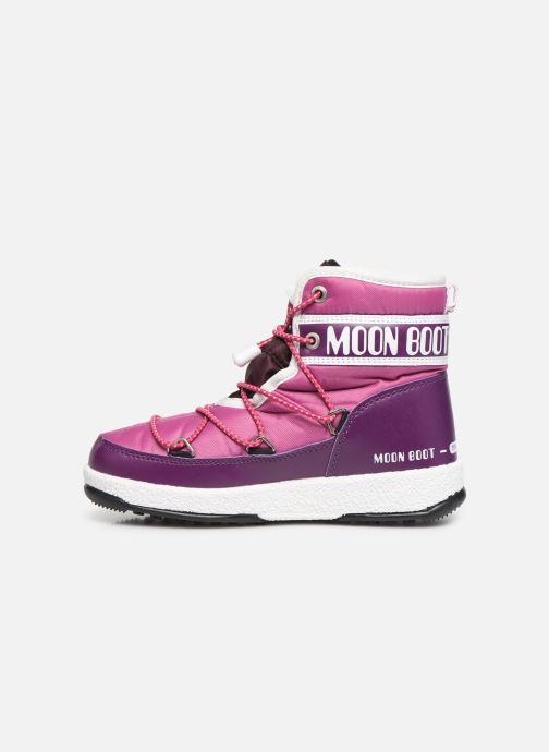 Chaussures de sport Moon Boot Moon Boot JR Boy Mid WP Violet vue face