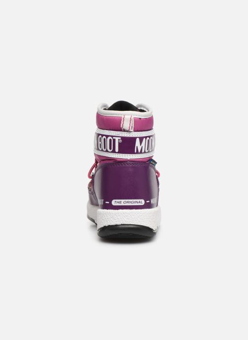 Chaussures de sport Moon Boot Moon Boot JR Boy Mid WP Violet vue droite