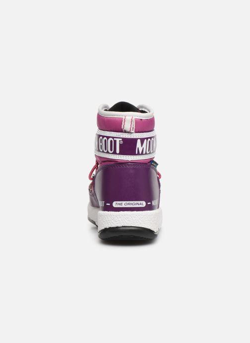 Zapatillas de deporte Moon Boot Moon Boot JR Boy Mid WP Violeta      vista lateral derecha