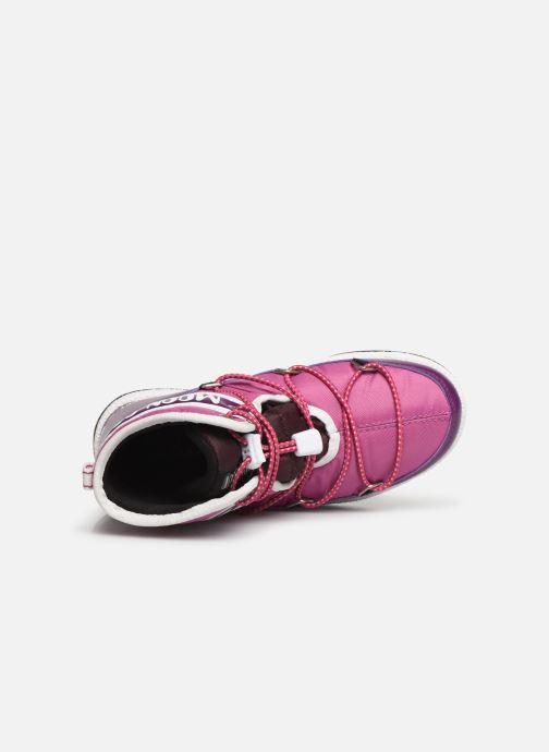 Zapatillas de deporte Moon Boot Moon Boot JR Boy Mid WP Violeta      vista lateral izquierda