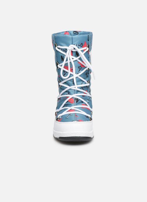 Chaussures de sport Moon Boot Moon Boot JR G.Q. Flamingo WP Vert vue portées chaussures
