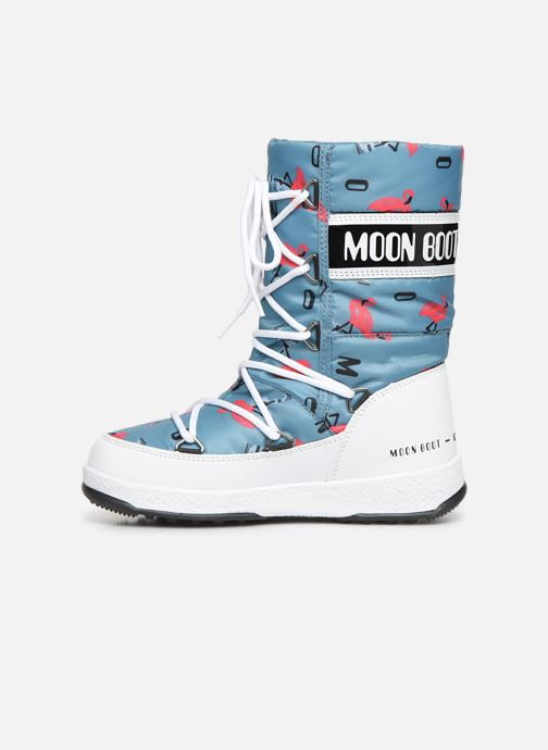 Chaussures de sport Moon Boot Moon Boot JR G.Q. Flamingo WP Vert vue face