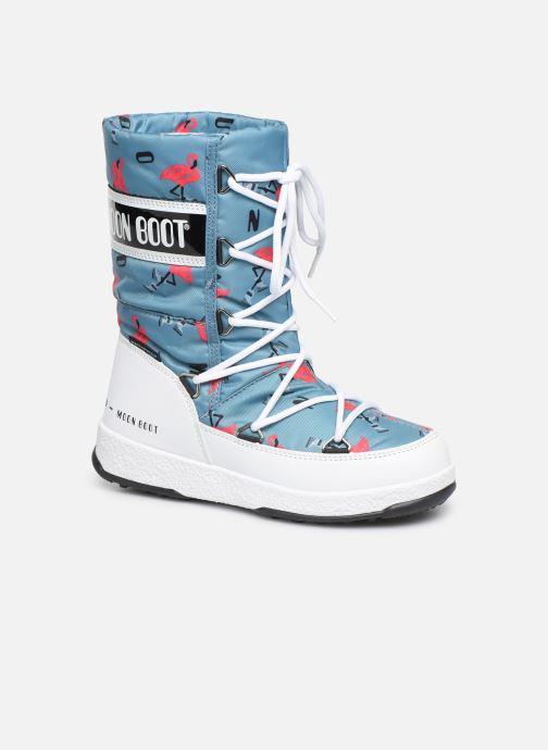 Chaussures de sport Moon Boot Moon Boot JR G.Q. Flamingo WP Vert vue détail/paire