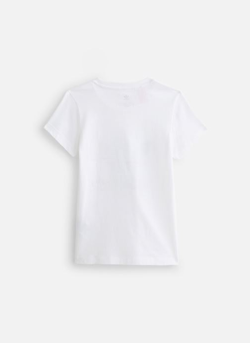 Vêtements adidas originals Slim Tee J Blanc vue bas / vue portée sac
