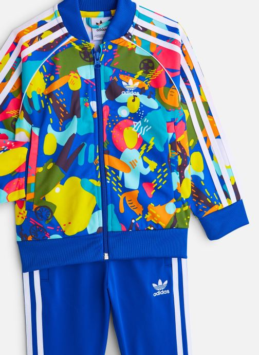 Vêtements adidas originals Superstar Set K Bleu vue portées chaussures
