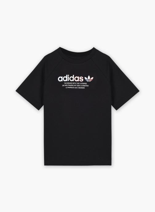 Vêtements adidas originals Tee K Noir vue détail/paire