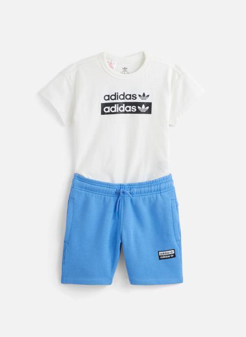 Vêtements adidas originals V-Cocal Short K Blanc vue détail/paire