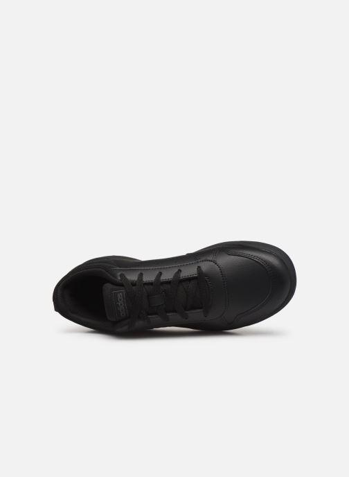 Sneakers adidas performance Tensaur K Sort se fra venstre