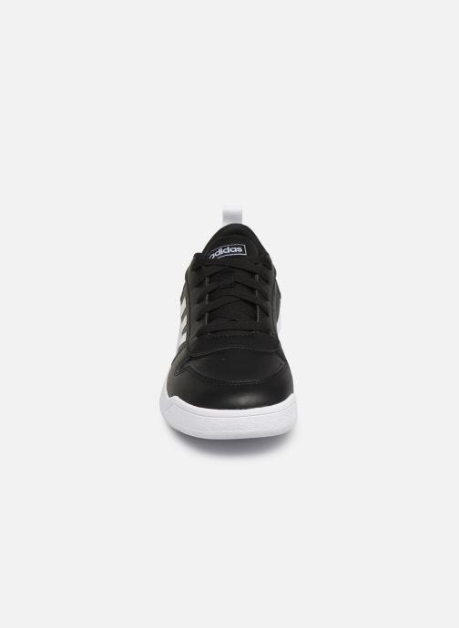 Baskets adidas performance Tensaur K Noir vue portées chaussures