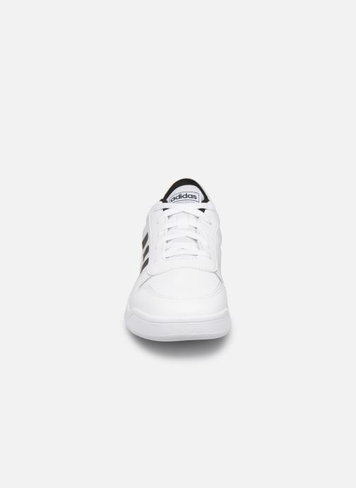 Baskets adidas performance Tensaurus J Blanc vue portées chaussures