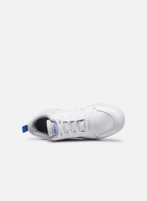 Baskets adidas performance Tensaur K Blanc vue gauche