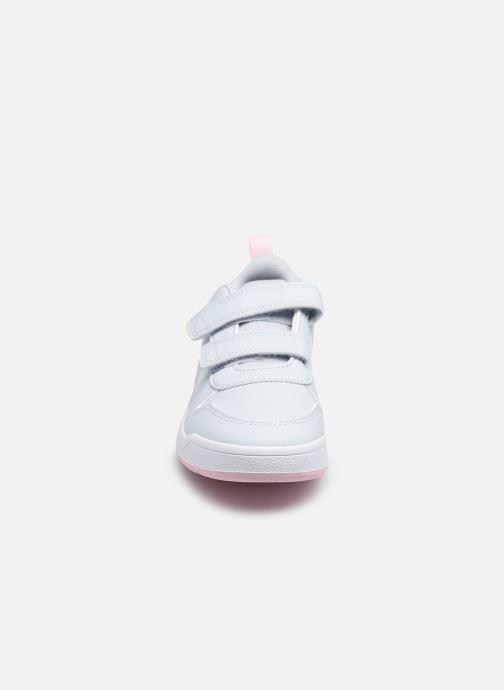 Baskets adidas performance Tensaur K Blanc vue portées chaussures