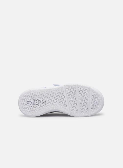 Baskets adidas performance Tensaur C Blanc vue haut