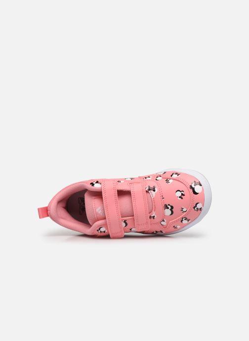 Sneaker adidas performance Tensaur C rosa ansicht von links