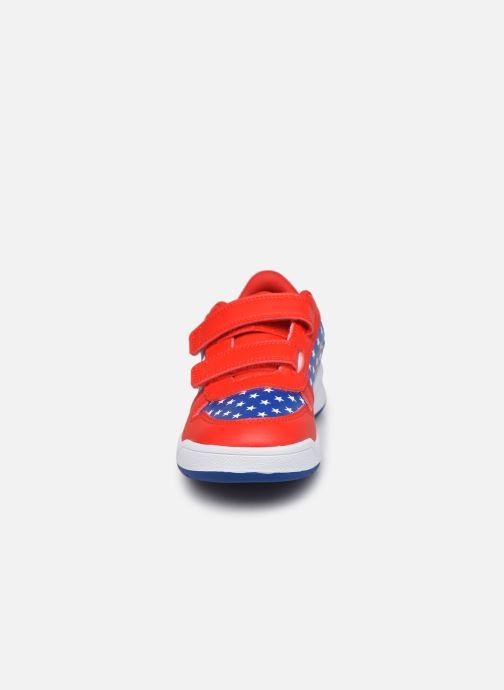 Baskets adidas performance Tensaur C Rouge vue portées chaussures