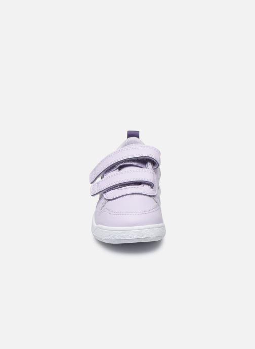 Baskets adidas performance Tensaur I Violet vue portées chaussures