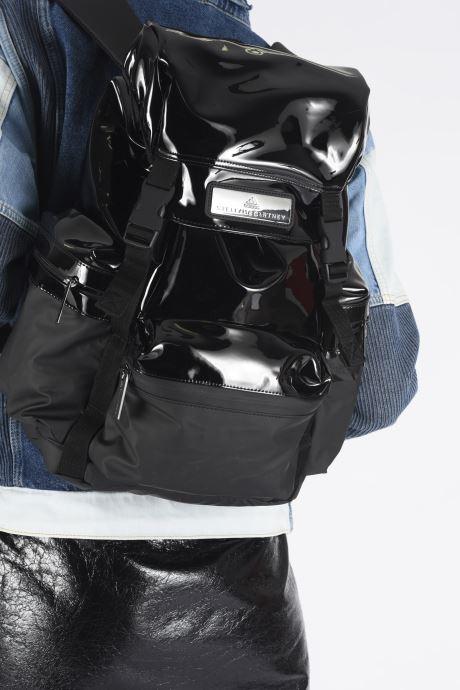 Rucksäcke adidas by Stella McCartney Backpack Stella schwarz ansicht von unten / tasche getragen