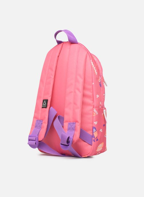 School bags Reebok KIDS SMALL AOP BP Pink view from the right