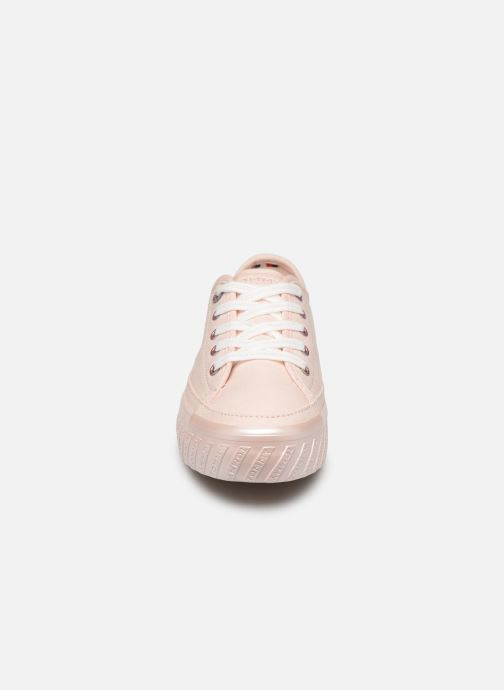 Baskets Tommy Hilfiger OUTSOLE DETAIL FLATFORM SNEAKER Rose vue portées chaussures