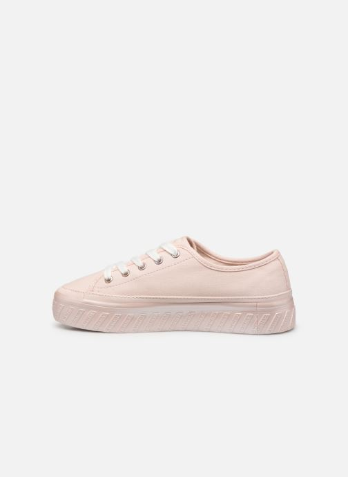 Baskets Tommy Hilfiger OUTSOLE DETAIL FLATFORM SNEAKER Rose vue face