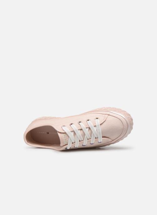 Sneaker Tommy Hilfiger OUTSOLE DETAIL FLATFORM SNEAKER rosa ansicht von links