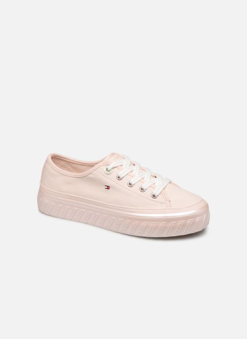 Baskets Tommy Hilfiger OUTSOLE DETAIL FLATFORM SNEAKER Rose vue détail/paire