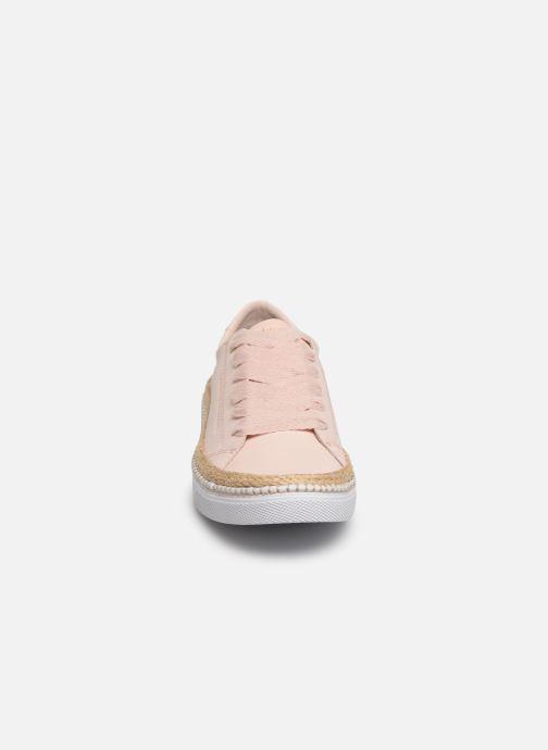 Baskets Tommy Hilfiger TOMMY JUTE CITY SNEAKER Rose vue portées chaussures