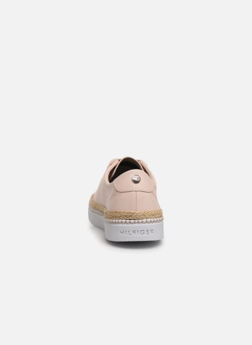 Baskets Tommy Hilfiger TOMMY JUTE CITY SNEAKER Rose vue droite