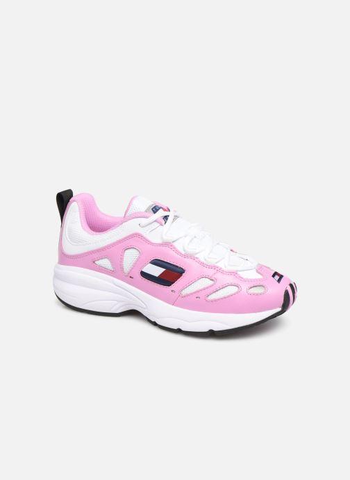 Sneakers Tommy Hilfiger WMNS TOMMY JEANS RETRO SNEAKER Pink detaljeret billede af skoene