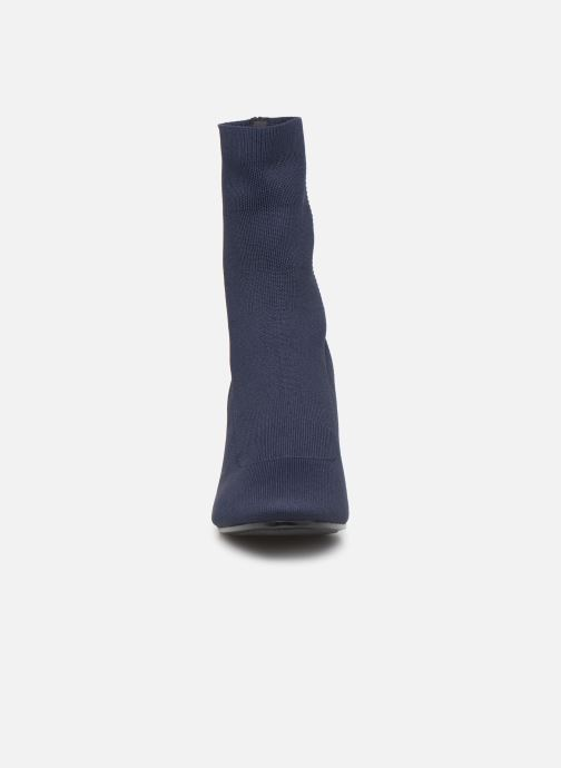 Botines  Tommy Hilfiger KNITTED HEELED BOOT Azul vista del modelo