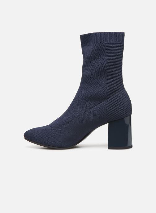 Boots en enkellaarsjes Tommy Hilfiger KNITTED HEELED BOOT Blauw voorkant