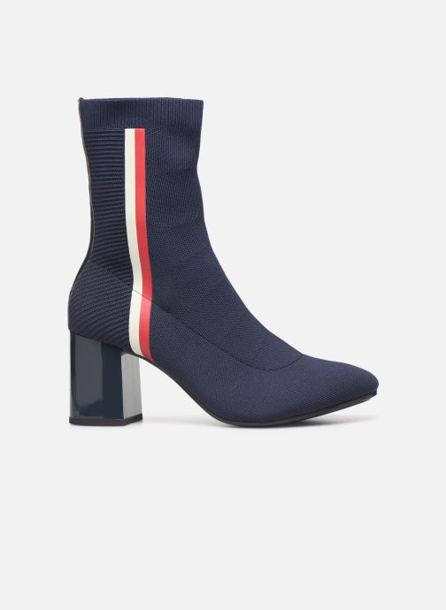 Botines  Tommy Hilfiger KNITTED HEELED BOOT Azul vistra trasera