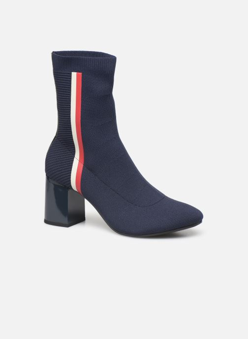 Bottines et boots Tommy Hilfiger KNITTED HEELED BOOT Bleu vue détail/paire