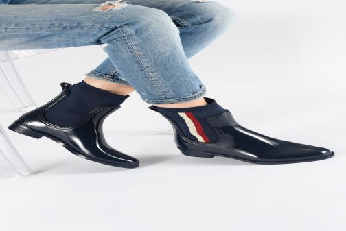 Bottines et boots Tommy Hilfiger KNITTED RAIN BOOT Bleu vue bas / vue portée sac