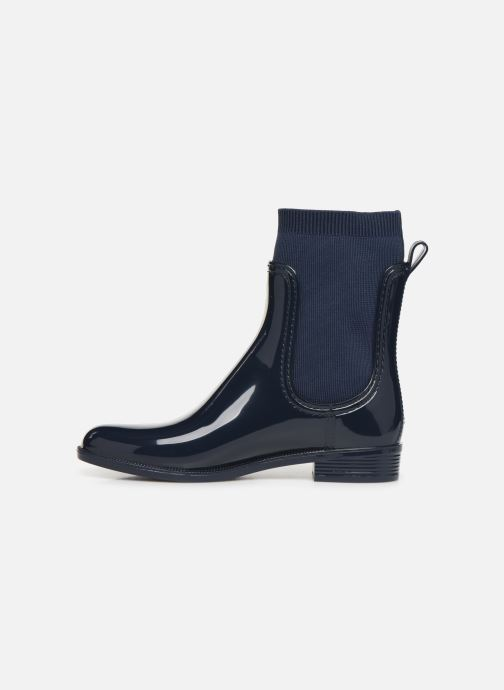 Boots en enkellaarsjes Tommy Hilfiger KNITTED RAIN BOOT Blauw voorkant