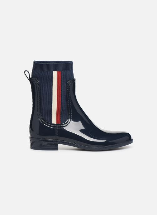 Bottines et boots Tommy Hilfiger KNITTED RAIN BOOT Bleu vue derrière