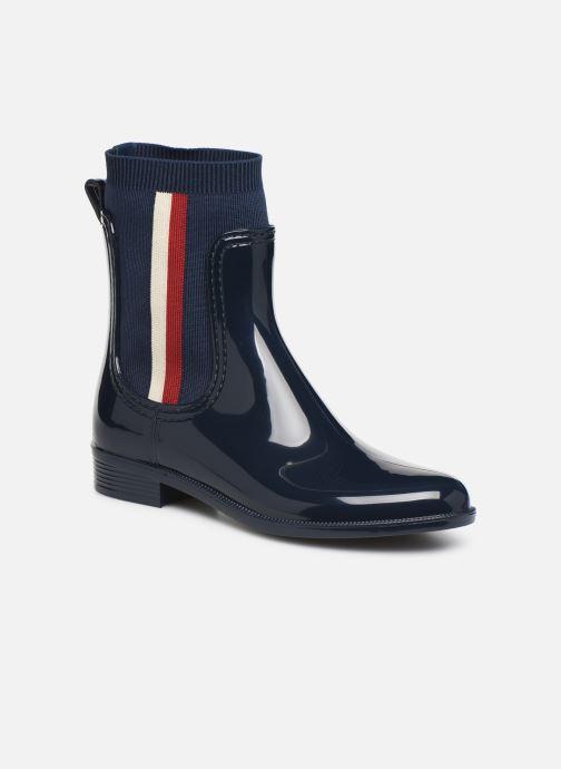 Ankelstøvler Tommy Hilfiger KNITTED RAIN BOOT Blå detaljeret billede af skoene