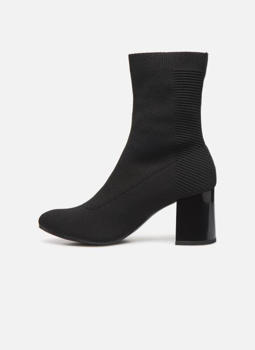 Boots en enkellaarsjes Tommy Hilfiger HEELED BOOT Zwart voorkant