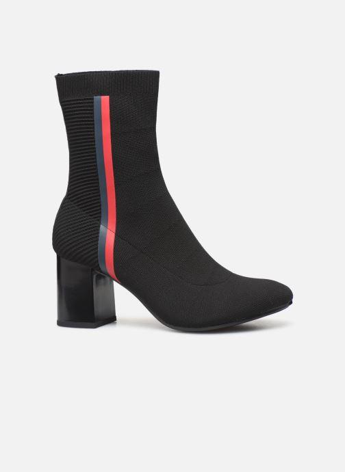 Boots en enkellaarsjes Tommy Hilfiger HEELED BOOT Zwart achterkant