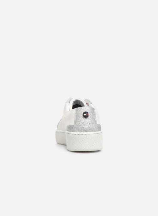 Baskets Tommy Hilfiger GLITTER DETAIL DRESS SNEAKER Blanc vue droite