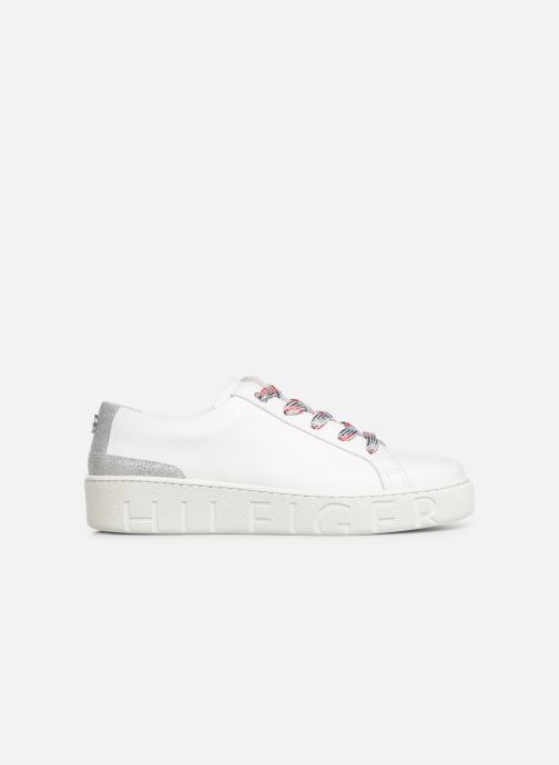 Baskets Tommy Hilfiger GLITTER DETAIL DRESS SNEAKER Blanc vue derrière