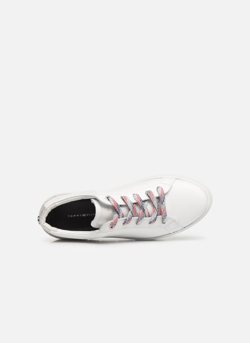Baskets Tommy Hilfiger GLITTER DETAIL DRESS SNEAKER Blanc vue gauche