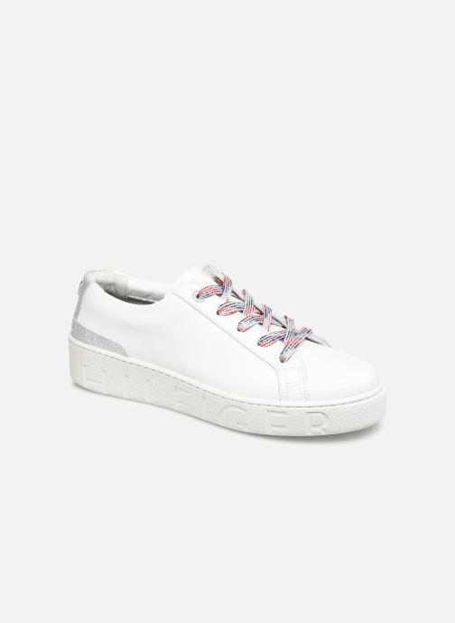 Sneakers Tommy Hilfiger GLITTER DETAIL DRESS SNEAKER Hvid detaljeret billede af skoene