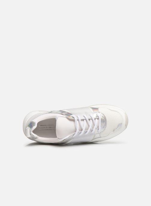 Sneakers Tommy Hilfiger LIFESTYLE IRIDESCENT SNEAKER Hvid se fra venstre