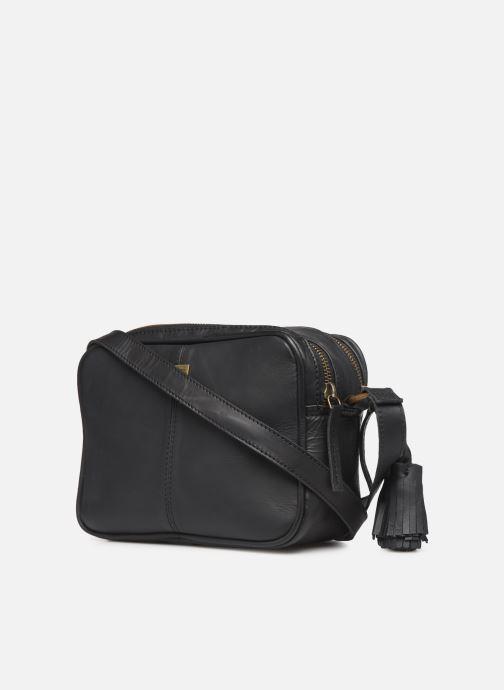 Handtaschen Pepe jeans VELA LEATHER BAG schwarz ansicht von rechts