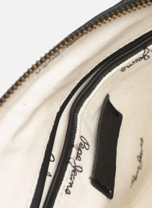 Handtaschen Pepe jeans VELA LEATHER BAG schwarz ansicht von hinten
