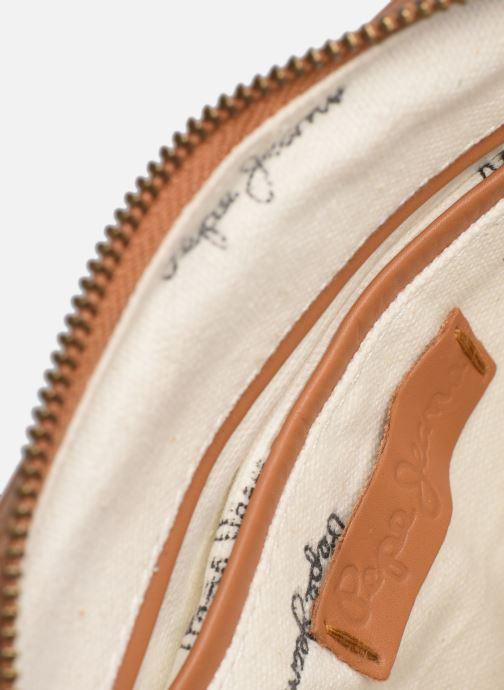 Borse Pepe jeans VELA LEATHER BAG Marrone immagine posteriore