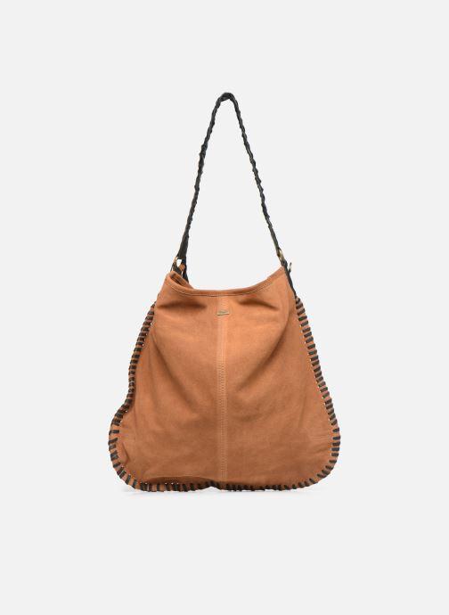 Handtassen Pepe jeans ARLET LEATHER BAG Bruin voorkant