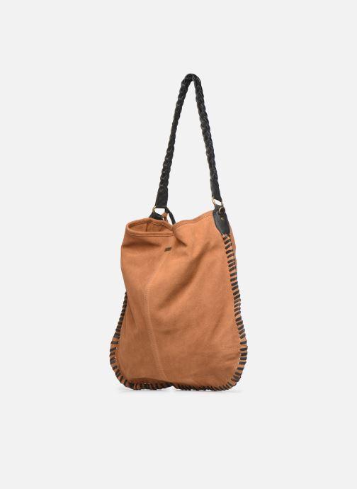 Handväskor Pepe jeans ARLET LEATHER BAG Brun Bild från höger sidan