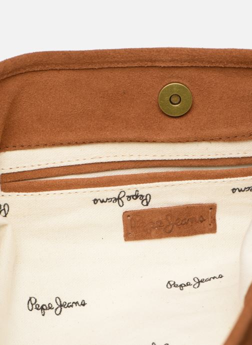 Handväskor Pepe jeans ARLET LEATHER BAG Brun bild från baksidan